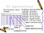 5 5 application excel7