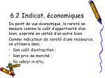 6 2 indicat conomiques
