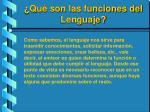 qu son las funciones del lenguaje