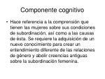 componente cognitivo