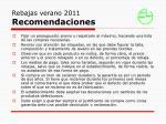 rebajas verano 2011 recomendaciones