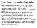el problema de selecci n de portfolio