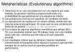 metaher sticas evolutionary algorithms