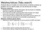 metaheur sticas tabu search