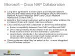 microsoft cisco nap collaboration