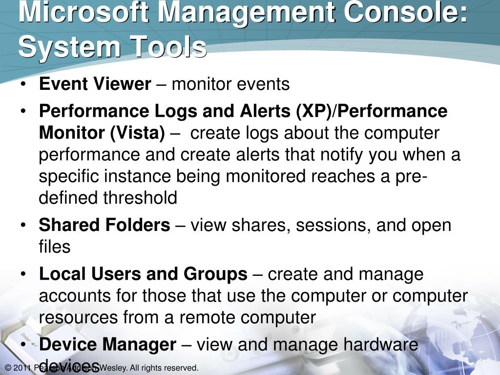 Microsoft Management Console: System Tools