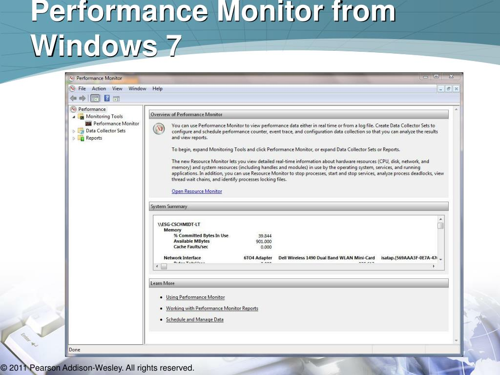 Performance Monitor from Windows 7