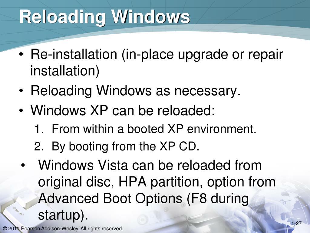 Reloading Windows