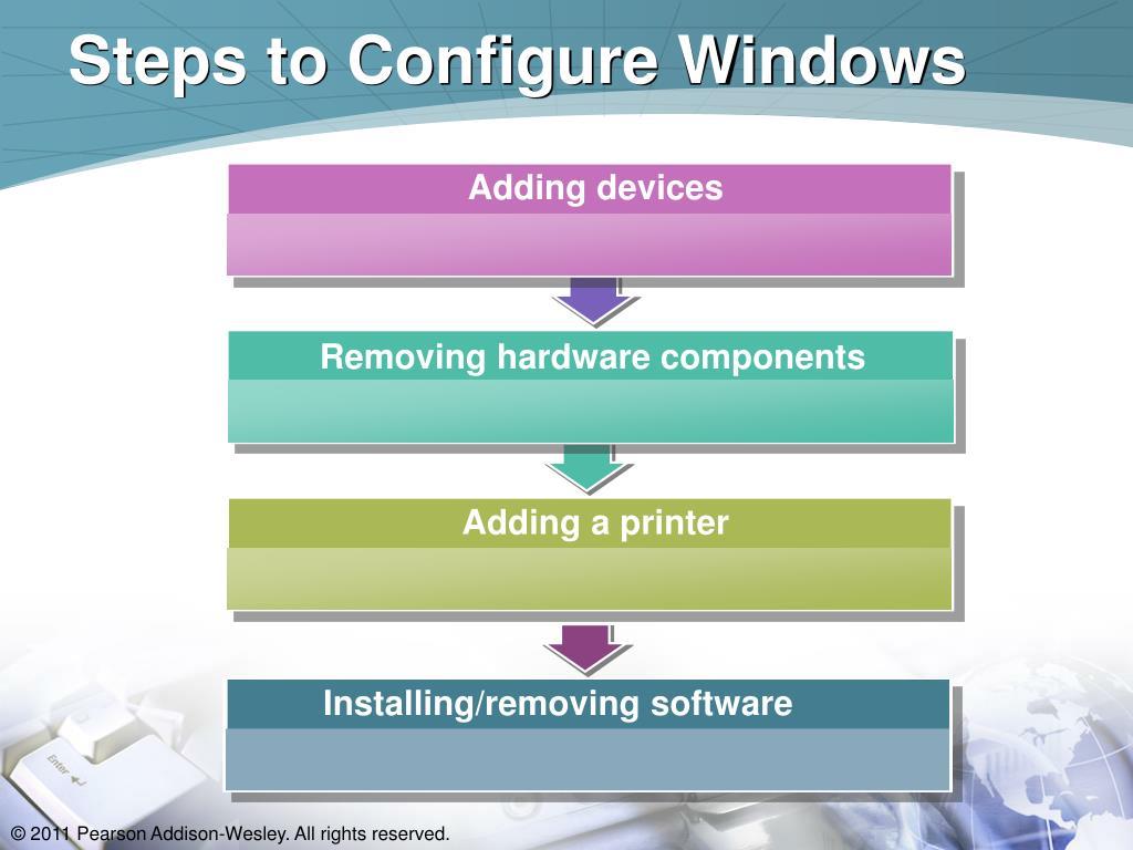 Steps to Configure Windows