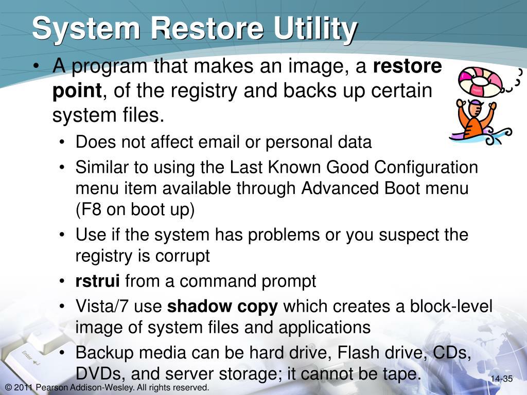 System Restore Utility