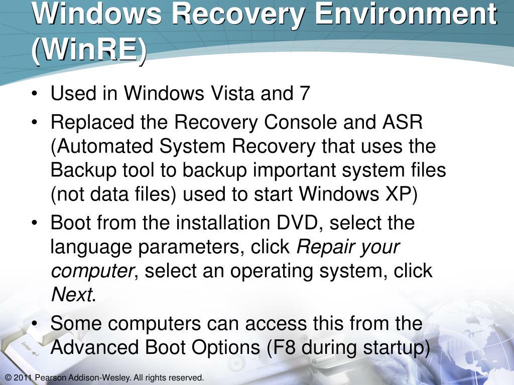 Windows Recovery Environment (