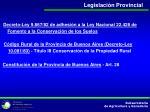legislaci n provincial
