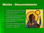 misi n discernimiento
