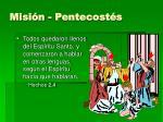 misi n pentecost s