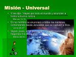 misi n universal
