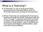 what is a township