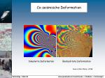 co seismische deformation
