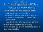 how do we do ebm 3 critical appraisal rcts of therapeutic equivalence1