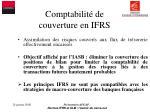 comptabilit de couverture en ifrs1
