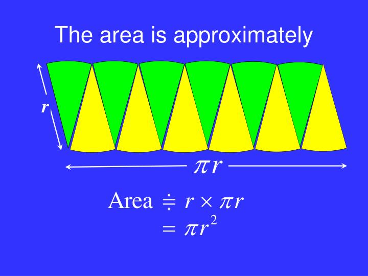 The area is approximately