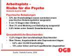 arbeitsplatz risiko f r die psyche statistik austria 2008