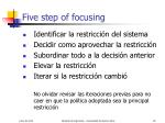 five step of focusing
