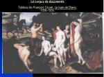 le corpus de documents tableau de fran ois clouet le bain de diane 1558 1559