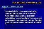 asp psicopat comunes y iii