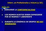 interv en profesionales y volunt y iii