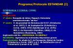 programa protocolo estandar i