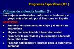 programas espec ficos iii