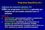 programas espec ficos iv