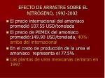 efecto de arrastre sobre el nitr geno 1992 2002