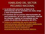 viabilidad del sector pecuario nacional