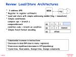 review load store architectures