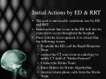 initial actions by ed rrt