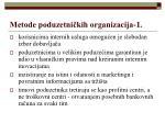 metode poduzetni kih organizacija 1