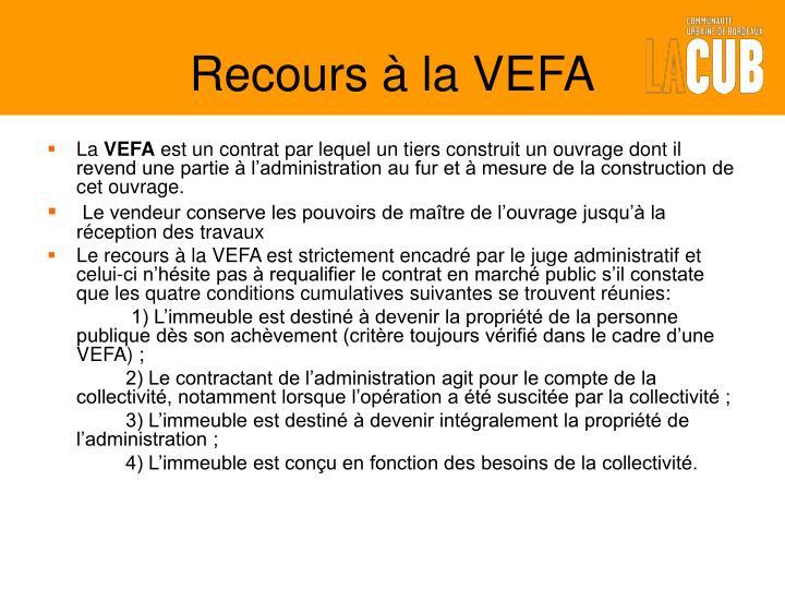 Recours à la VEFA