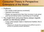 consumer theory in perspective extensions of the model