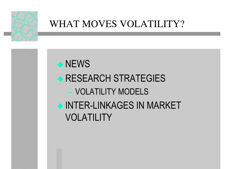 What moves volatility