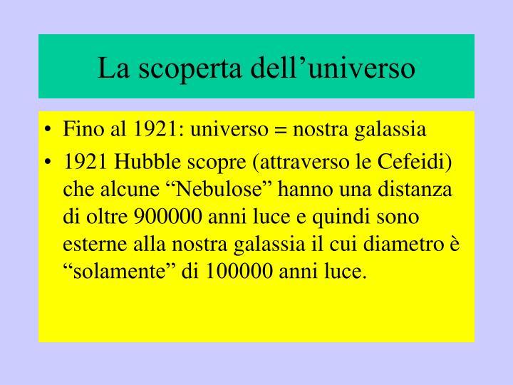 La scoperta dell'universo