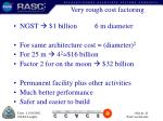 very rough cost factoring