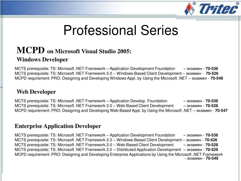 MCTS prerequisite: TS: Microsoft .NET Framework – Application Development Foundation