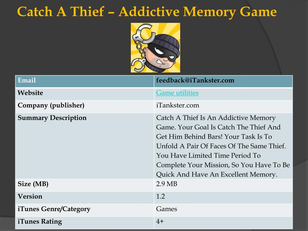 catch a thief addictive memory game l.