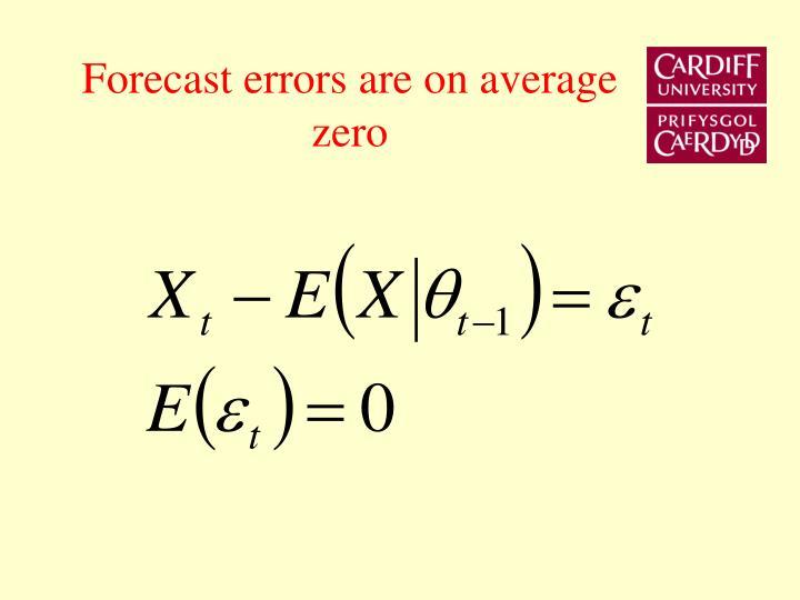 Forecast errors are on average zero