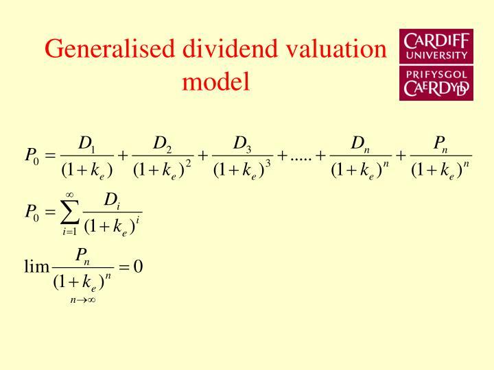Generalised dividend valuation model