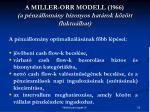 a miller orr modell 1966 a p nz llom ny bizonyos hat rok k z tt fluktu lhat