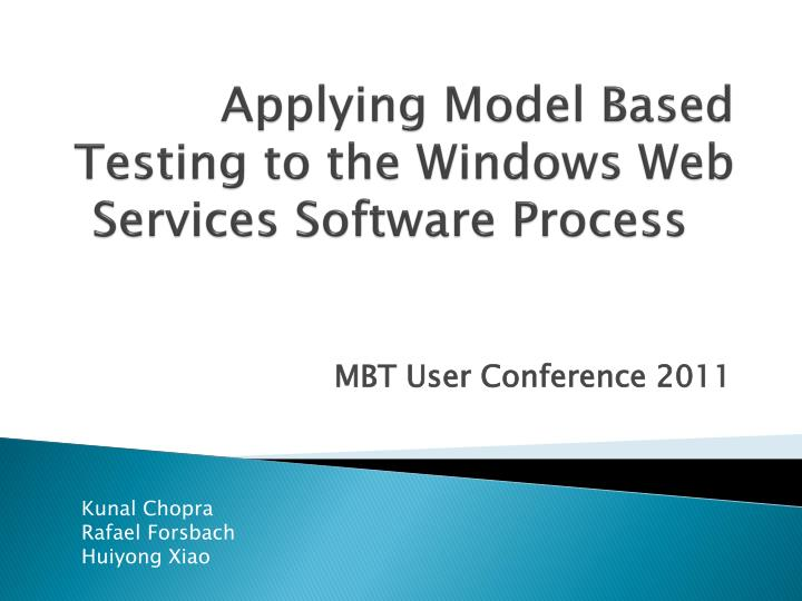 applying model based testing to the windows web services software process n.