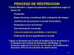 proceso de restriccion