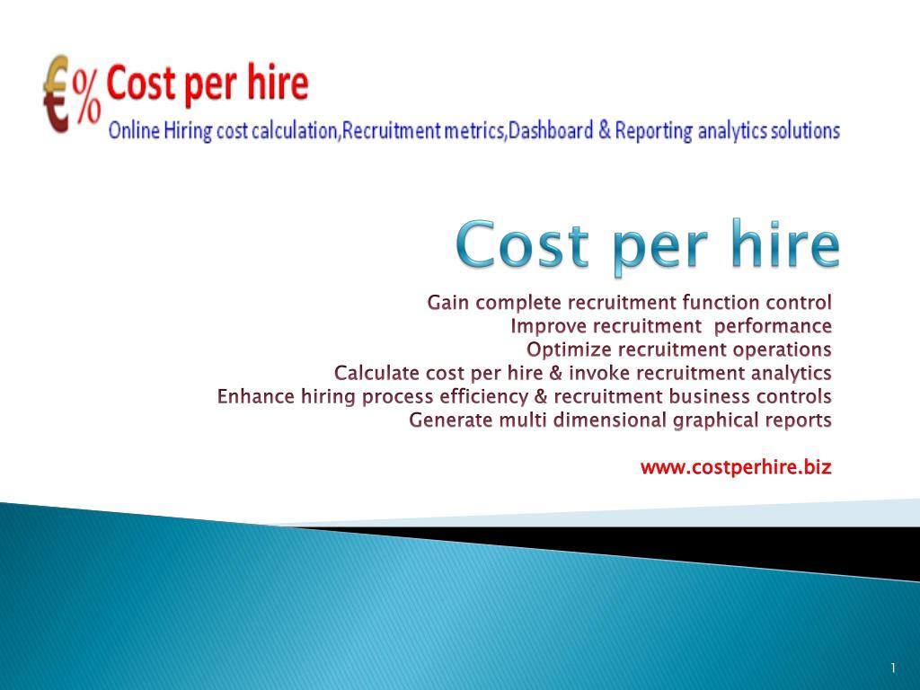 Cost per hire